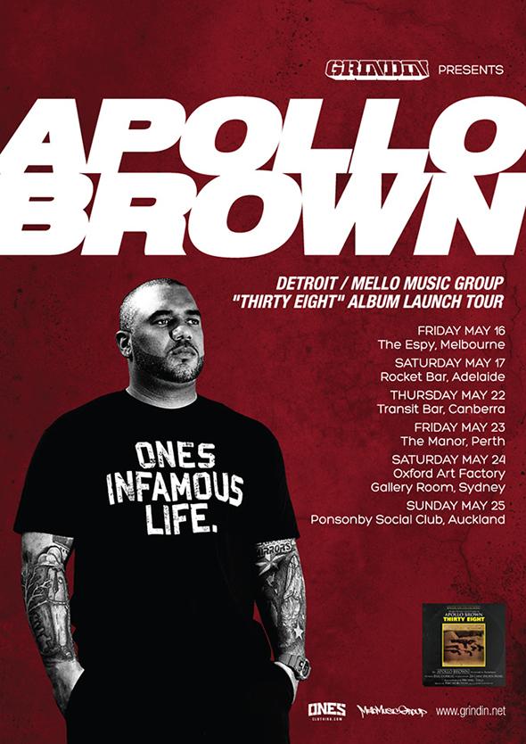 Apollo Brown Australia And New Zealand Album Tour 2014