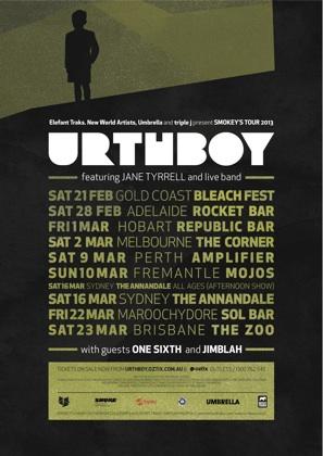 Urthboy Smokeys Tour 2013
