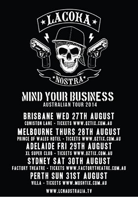 LA COKA NOSTRA  - Australian Tour 2014