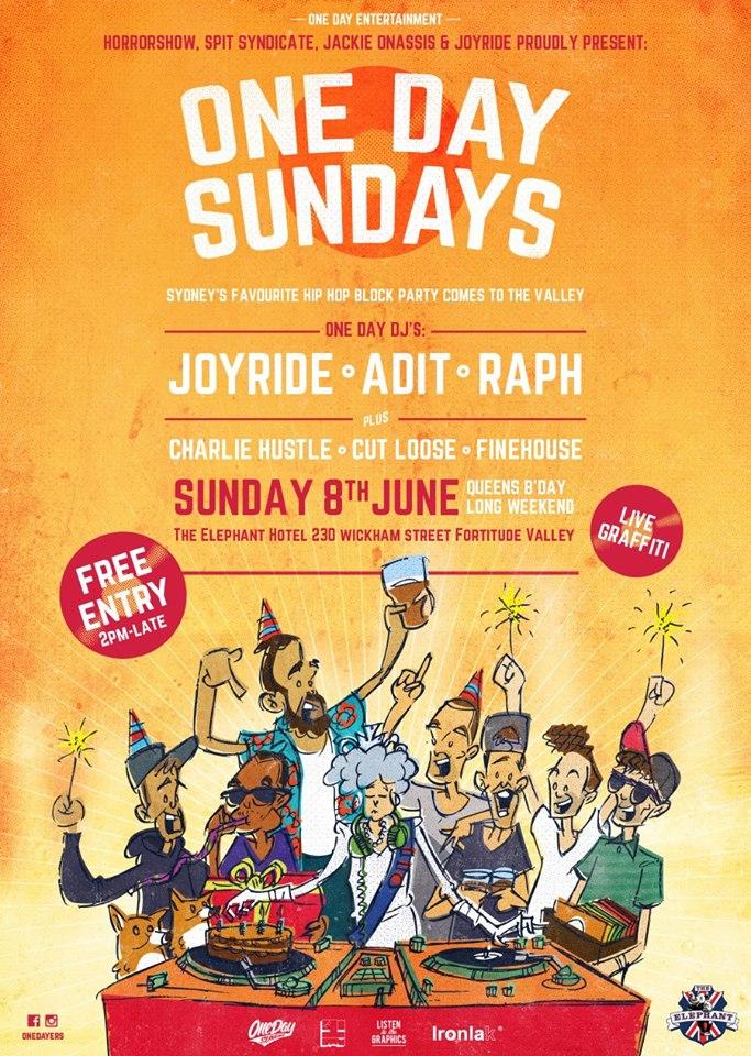 One Day Sundays Brisbane June 8th