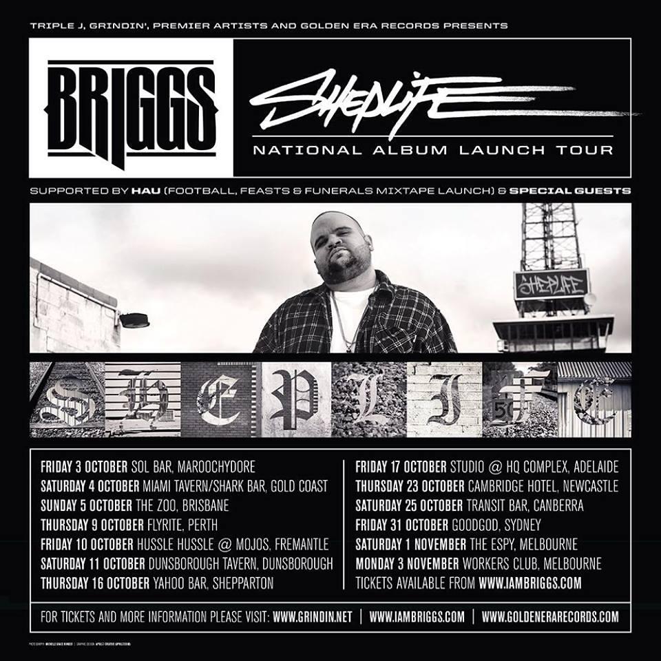 Briggs Sheplife National Tour Flyer