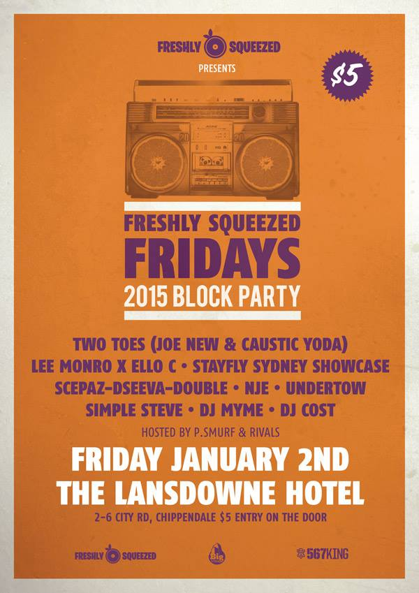Freeshly Squeezed 2015 Block Party, Australian Hip Hop, Ozhiphop, Oz Hip-Hop, Australian Hip-Hop, Hip-Hop, Ozhiphopshop