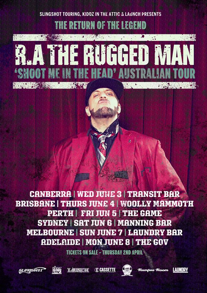 Ra The Rugged Man Australian Tour Flyer