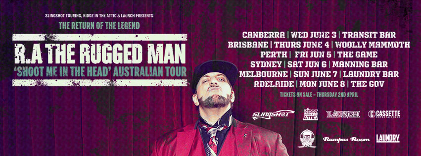 Ra The Rugged Man Australian Tour Banner