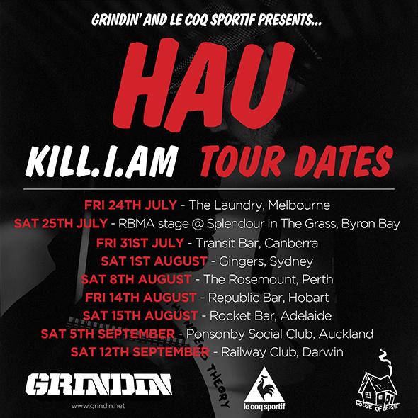 Hau Kill I Am Tour Flyer, Australian Hip Hop, Ozhiphop, Ozhiphop, Aussie Hip Hop