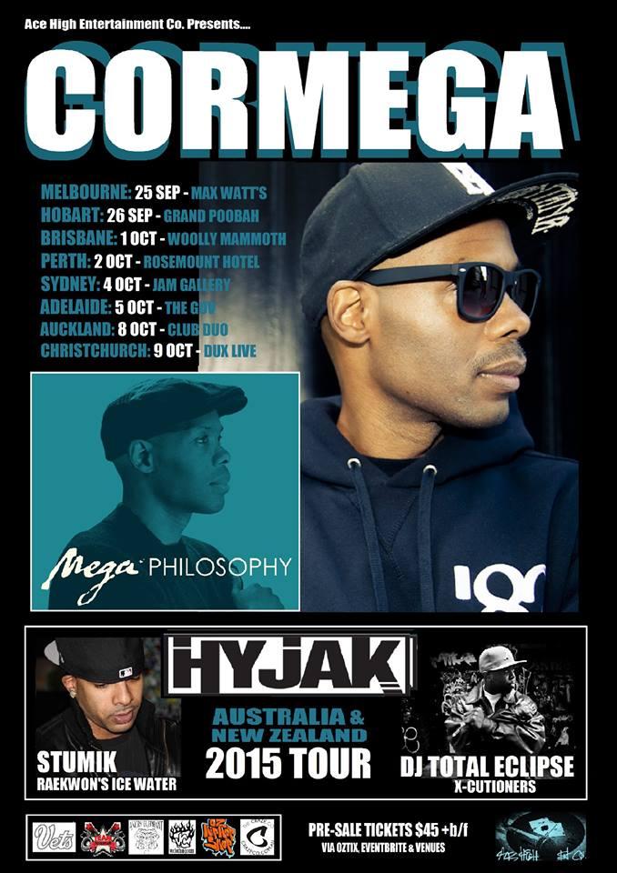 Cormega Australian Tour Flyer 2015