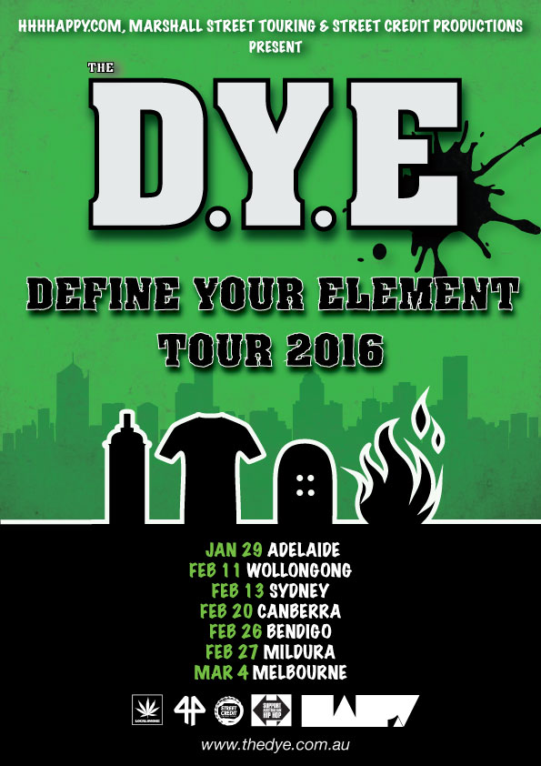 The D.Y.E Announce 'Define Your Element' Tour 2016