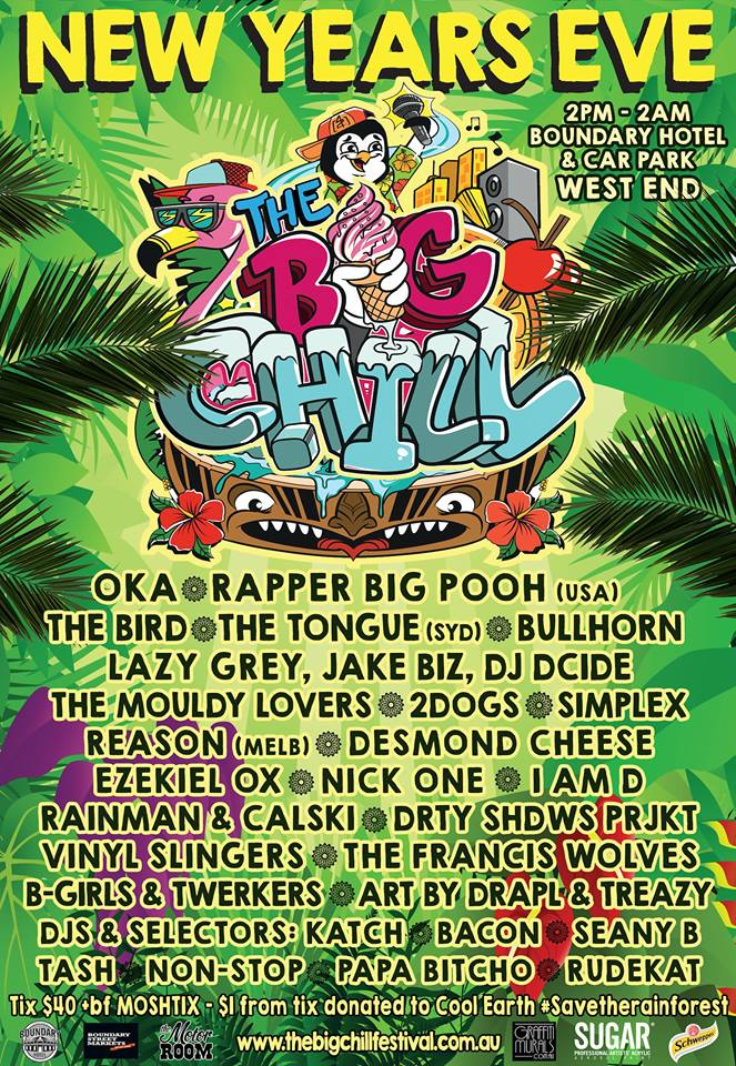The Big Chill Fest 2015 New Years Eve