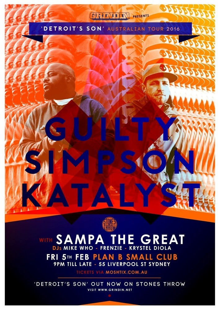Guilty Simpson & Katalyst Detroit Son Sydney Flyer.