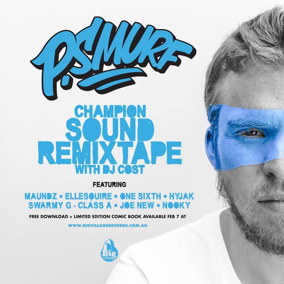 Sydney Rapper from Big Village Records P.Smurf  Champion Sound