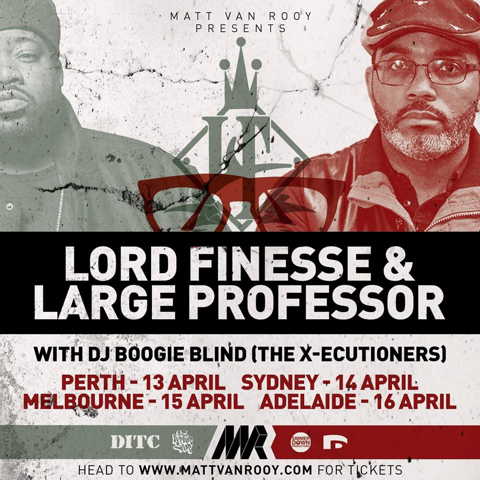 Lord Finesse & Large Professor Ft Boogie Blind Australian Tour