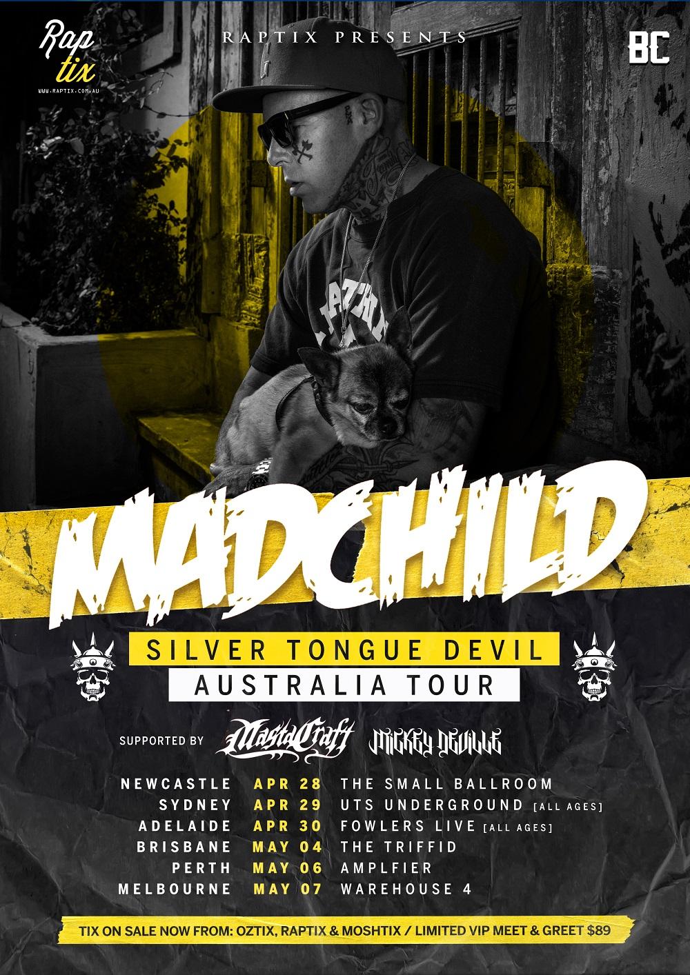 Madchild Australian Tour Poster