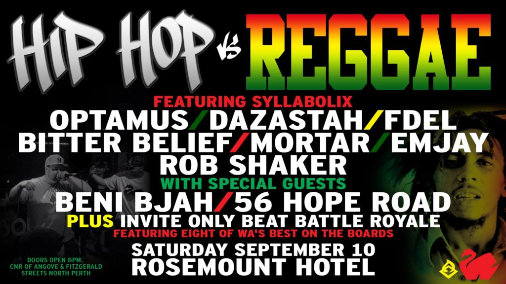 Hip Hop Vs Reggae / Australian Hip Hop News