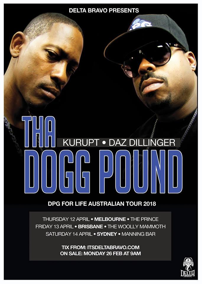 Tha Dogg Pound Australian Tour 2018