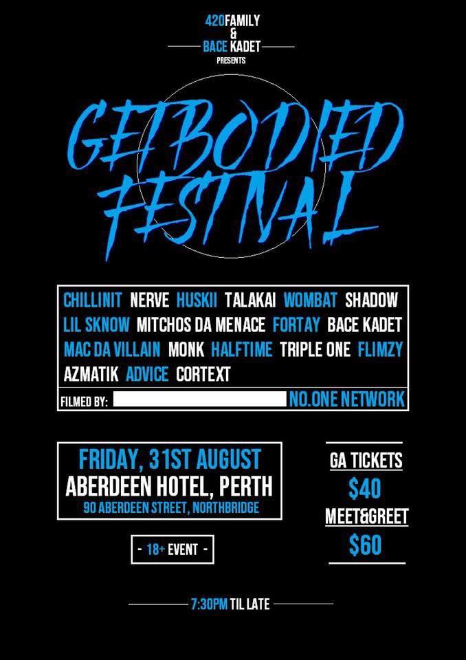 Australian Hip Hop Get Bodied Festival Perth 2018