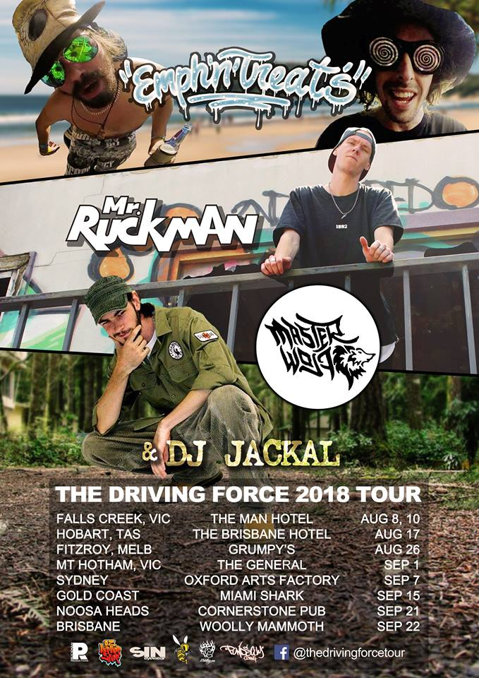 Australian Hip Hop Tour 2018. The Driving Force Tour 2018