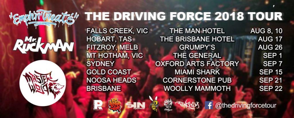 Australian Hip Hop Tour 2018. The Driving Force Tour 2018