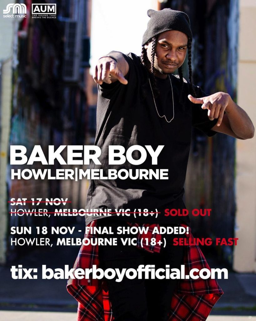 Baker Boy Melbourne Shows