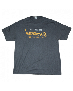 Gaz Hazard - Hazardous to Ya Health Grey T-Shirt.