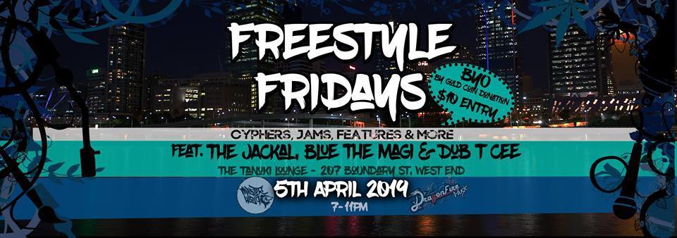 Brisbane Hip Hop Gig News: Freestyle Fridays - April 2019