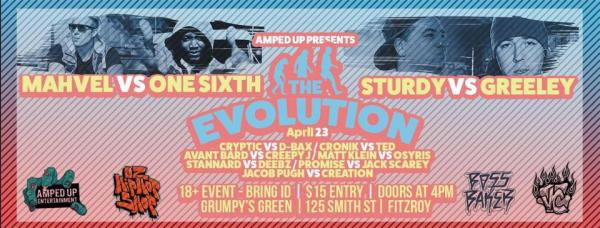 Amped Up Entertainment presents: The Evolution - One Sixth Vs Mahvel