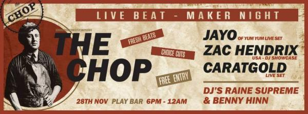 Gig News! The Chop Live Beat-maker Night November