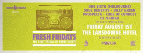 Gig News! 'Fresh Fridays' Launch Party