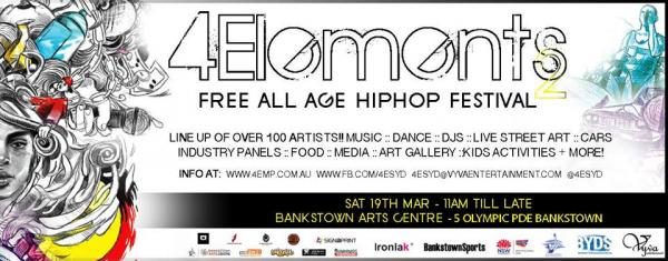 Gig News!  4Elements All Ages HipHop Festival