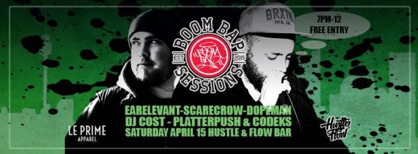 Boom Bap Sessions Ft Earelevant, Scarecrow & Dopeman