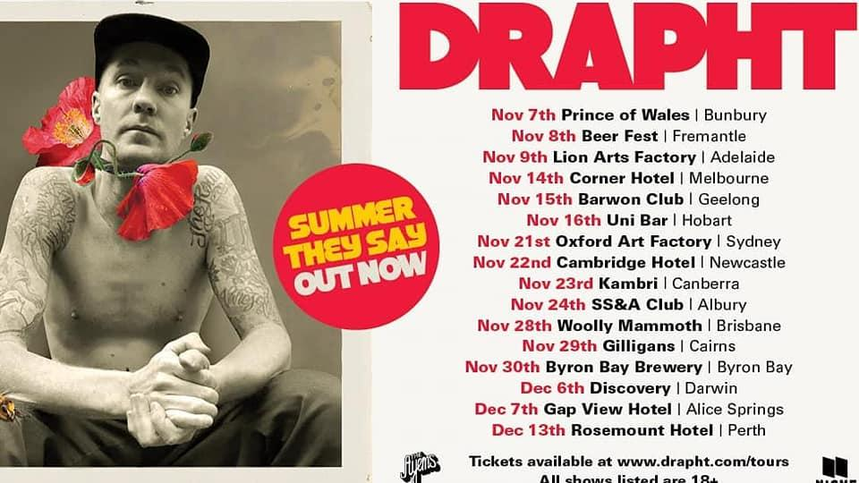 Drapht Announces Supports For Upcoming 'Summer They Say' Australian Tour