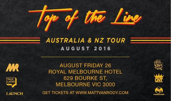 RITTZ - Top Of The Line Tour 2016 at Royal Melbourne Hotel