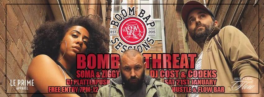 Boom Bap Sessions - ft. Bomb Threat, Soma and Ziggy