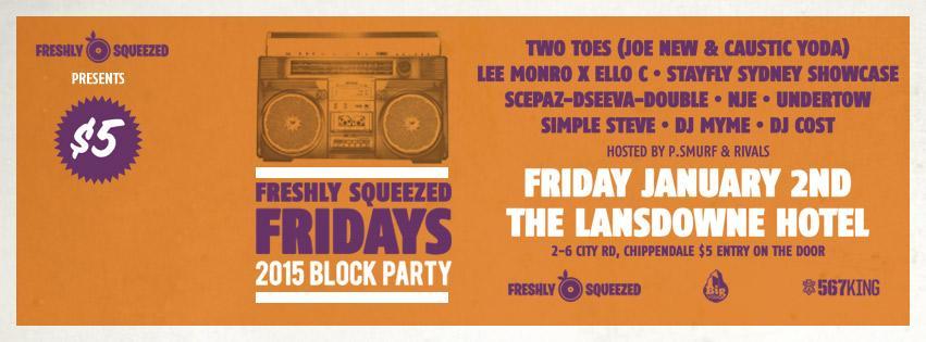 Gig News! Freshly Squeezed Fridays Block Party 2015