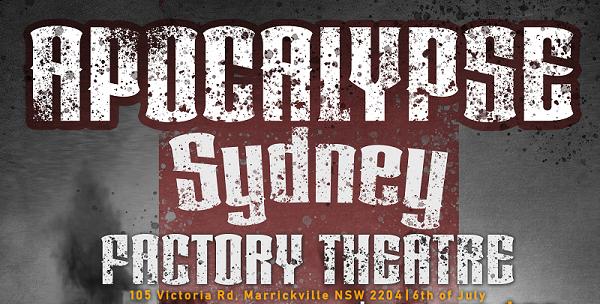 Sydney Hip Hop Gig News - The Apocalypse Tour