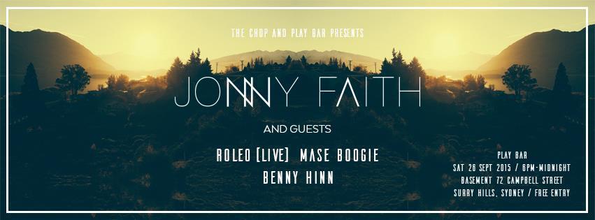 Gig News! Jonny Faith Sydney Show