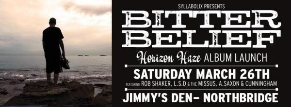 Bitter Belief Announces 'Horizon Haze' Album Launch/Party