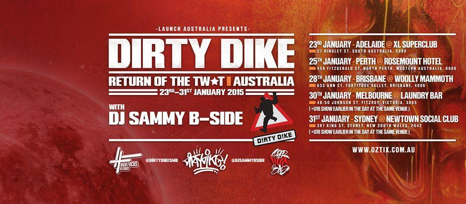 Tour News! Dirty Dike Return Of The Twat Australian Tour