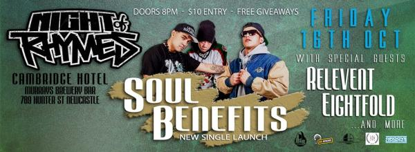 Gig News! Night Of Rhymes - Soul Benefits