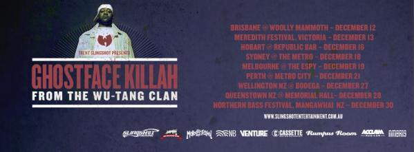 Ghostface Killah - Australia & New Zealand Tour Announced