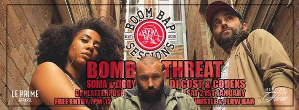 Boom Bap Sessions - ft. Bomb Threat, Soma and Ziggy