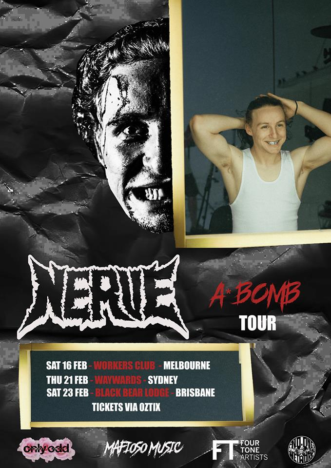 Nerve A Bomb Single Tour 2019 Flyer