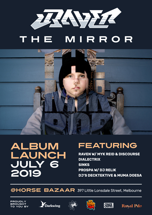 Raven - The Mirror Album Launch Poster