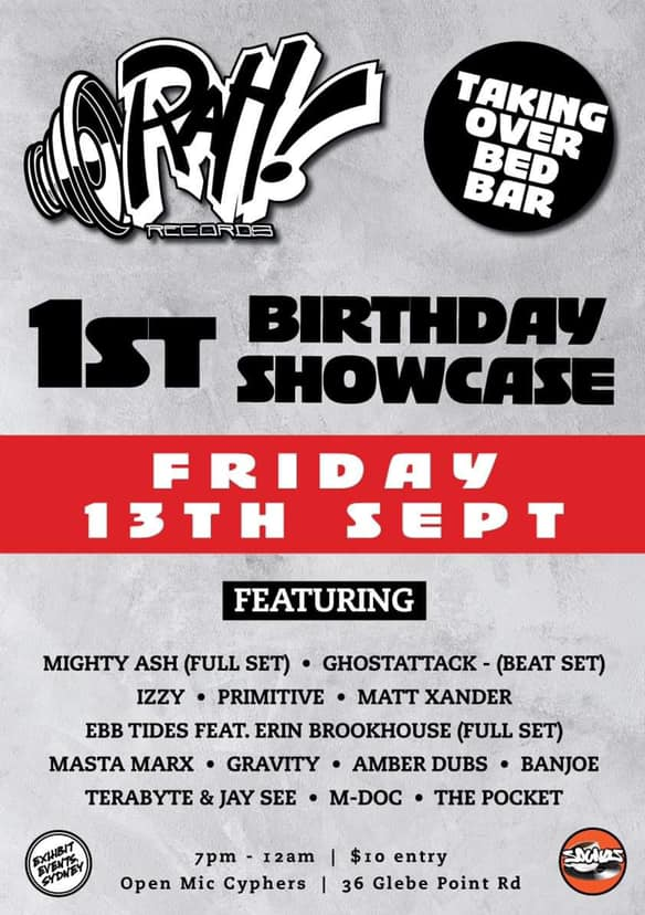 Rah Records 1st Bday