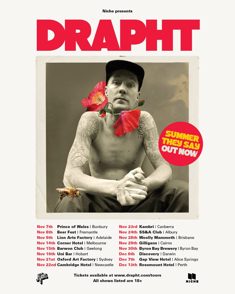 Drapht - Summer They Say Australian Tour Flyer