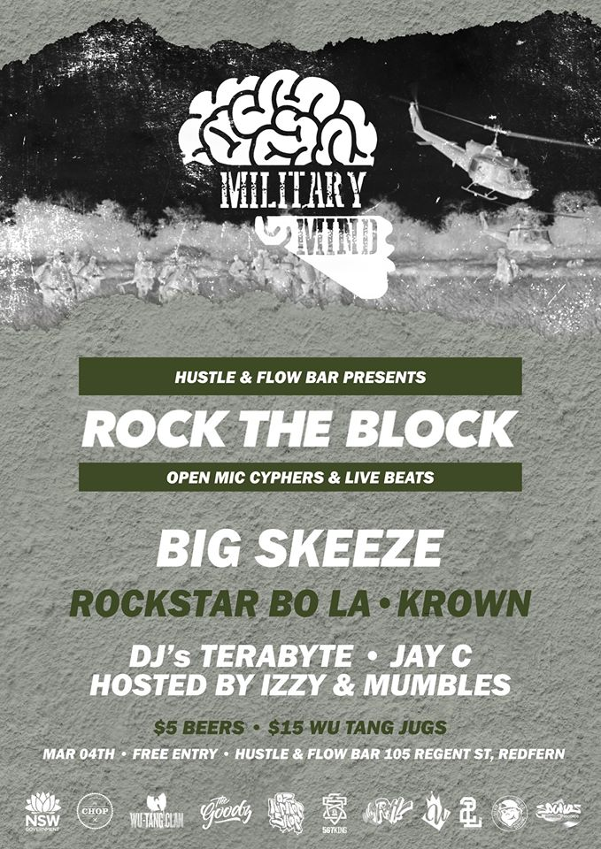 Sydney Hip Hop Gig News: Rock The Block - Military Mind