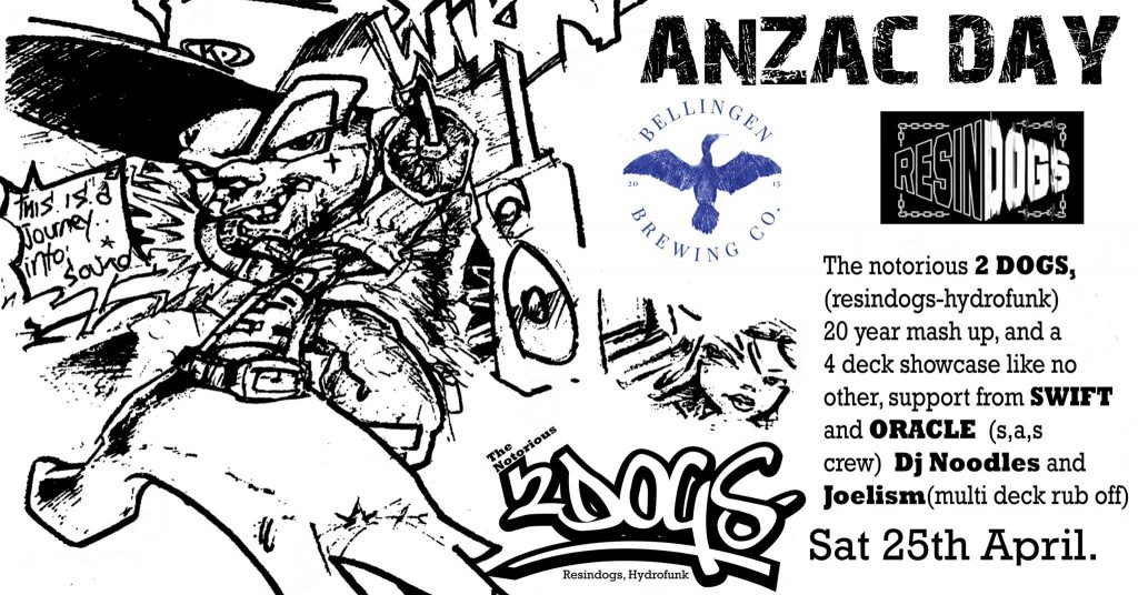 Brisbane Hip Hop Gig News: The Notorious 2dogs. Resindogs, Hydrofunk