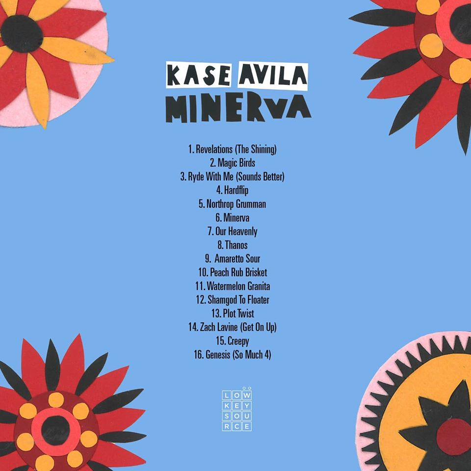 Kase Avila - 'Minerva' Album Back Cover