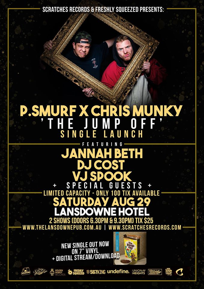 P.Smurf x Chris Munky The Jump Off Single Launch Flyer